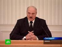 © Александр Лукашенко. Кадр телеканала НТВ