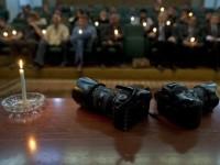 Акция памяти погибших в Бенгази фотокорреспондентов. Фото ©AFP