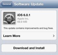 Apple выпустила iOS 6.0.1, но задержала iTunes 11