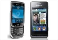 BlackBerry 9800 Torch и Samsung Wave 723