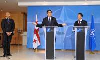 President Mikhail Saakashvili of Georgia and NATO Secretary General, Anders Fogh Rasmussen