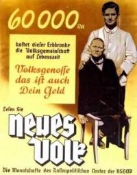 Плакат, поощряющий евгенику и эвтаназию нетрудоспособных людей
